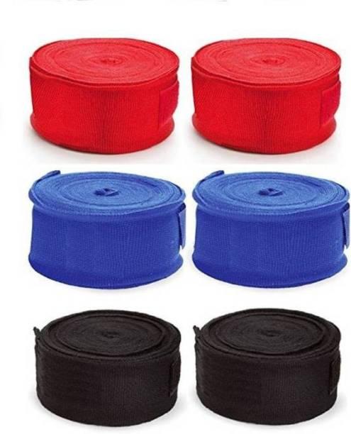 Monika Sports 03 Red, Blue, Black Boxing Hand Wrap