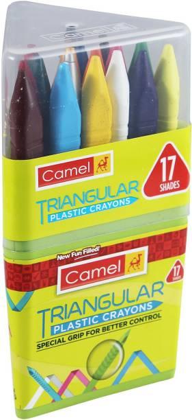 Camel Triangular Plastic Crayon