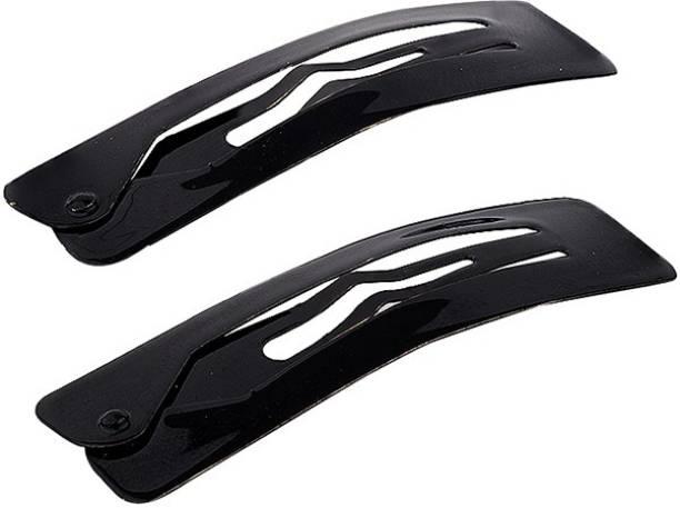 Voylla Rectangular Black Snap-On Hair Clip Tic Tac Clip