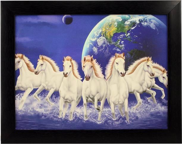 Indianara Indr SEVEN HORSES (1571) Digital Reprint 10.6 inch x 13 inch Painting