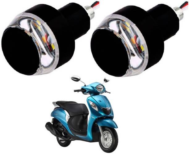 SM FASHION Yellow Motorcycle LED/ Bike Handlebar / Handle Weight Light Indicators / Bar End Turn Signal Grip 87 Bike Handlebar Weights