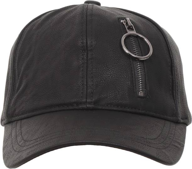 439a992f27f FabSeasons Solid Solid Casual Leather like PU unisex Baseball Cap   Hat  with Adjustable Buckle Cap