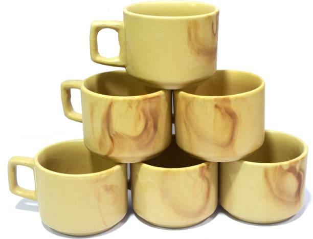 Pin to Pen Tea Coffee Ceramic Cup HD - Hotel Edition Brown Set of 6 Ceramic