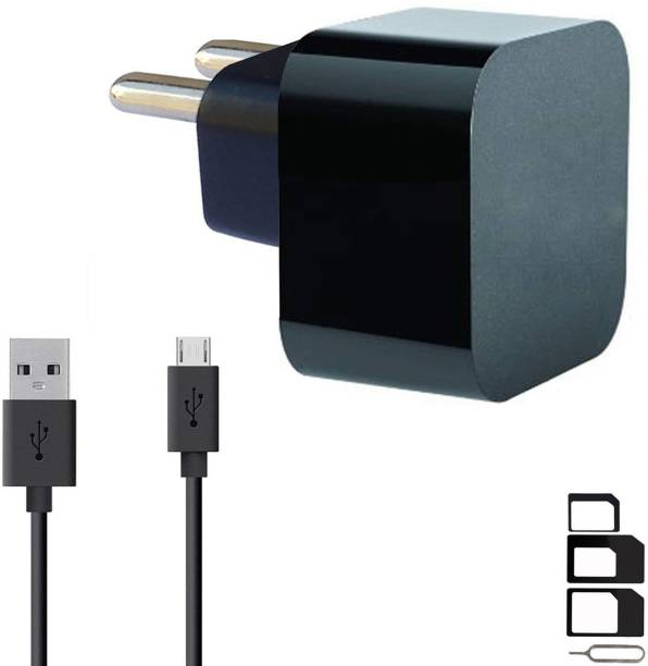 RunSale Wall Charger Accessory Combo for Videocon Infinium Z45 Dazzle, Graphite V45DB, Z55 Dash, Octa Core Z55 Delite, Z45 Amaze, Infinium Z51 Punch, Infinium Z52 Inspire, Z30 Pace, Infinium Z30 Aire, Infinium Z40 Quad, Infinium Z51 Nova Plus, Thunder Plus 2 V50DC, A48 Charger Original Adapter Like Wall Charger, Mobile Power Adapter, Fast Charger, Android Smartphone Charger, Battery Charger, High Speed Turbo Travel Charger With 1 Meter Micro USB Cable Charging Cable Data Cable