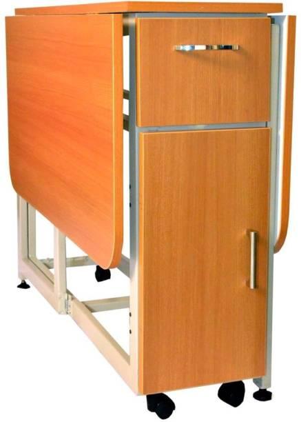 InnoFur Forito Single Teak Engineered Wood Office Table