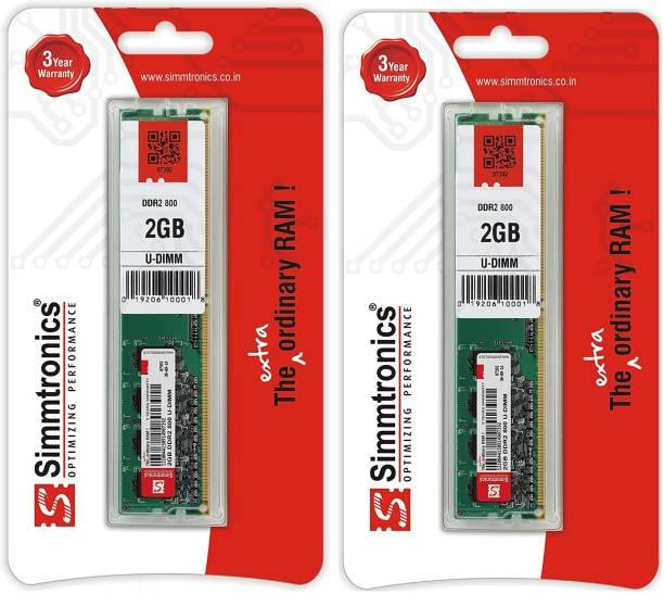 simtronics SIMMTRONICS - 2 GB DDR2 800 DESTOP DDR2 2 GB (Dual Channel) PC (SIMMTRONICS - 2 GB DDR2 800 DESTOP)