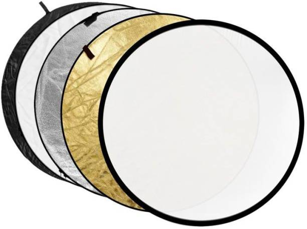 Sonia 5 in1 Translucent Silver Gold White and Black Collapsible Round Multi Disc Light Reflector for Studio or Any Photography Situation. Reflector