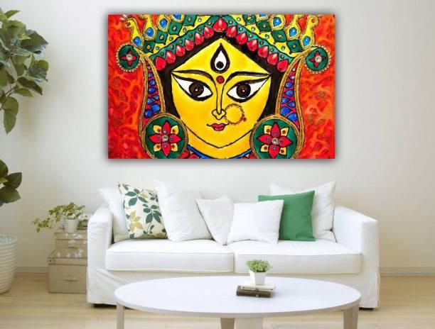 Tamatina Canvas Painting Maa Durga Modern Art Relgious 14 Inch