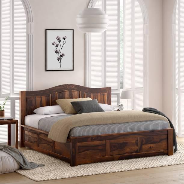 Flipkart Perfect Homes PureWood Sheesham King Box Bed