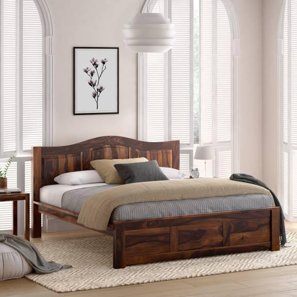 Flipkart Perfect Homes PureWood Sheesham King Bed
