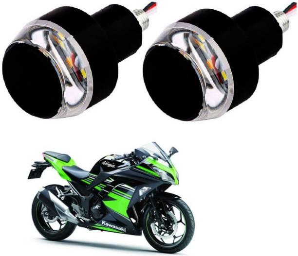 SM FASHION Present White LED Indicator Light, Parking Light, Side Marker / Superior Look / 90 Bike Handlebar Weights