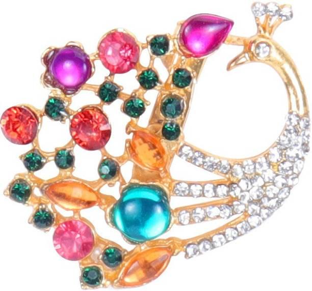 f5905f2ba50 Amber Shine Designer Saree Pin Brooch for women and girls Brooch