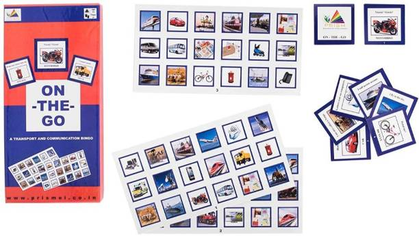 Smartcraft On The Go Clue Based Pictorial On Means Of Transport And Communication Bingo (Blue and Pink)