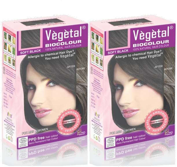 Vegetal Soft Black 50 Gm 2 Hair Color