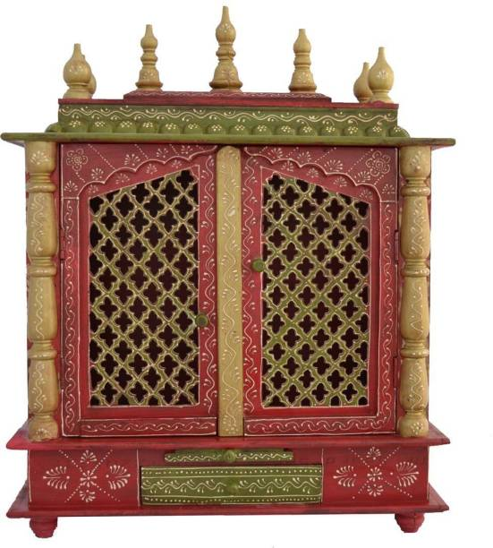 Marusthalee Wooden Temple / Pooja Mandir for home Solid Wood Home Temple