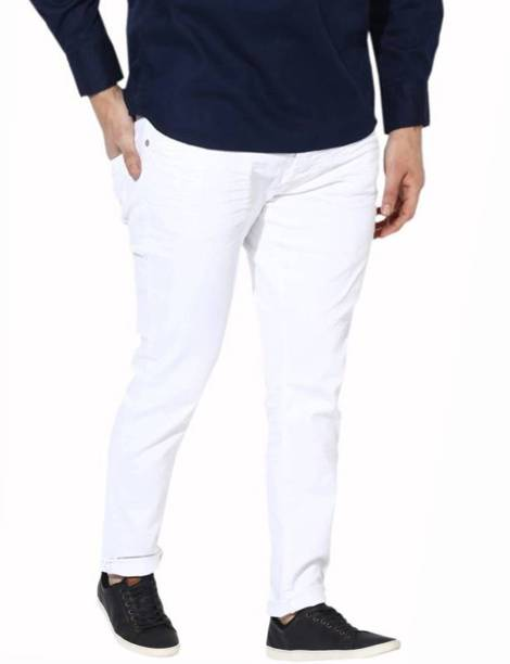 c70bdb2f8bb73 White Jeans - Buy White Jeans Online at Best Prices In India ...