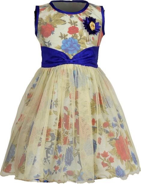 1b31fa166070 FabTag - Tiny Toon Girls Midi Knee Length Casual Dress