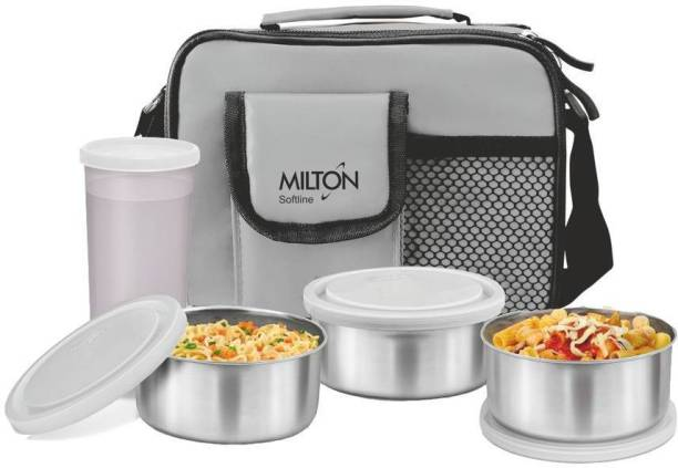 MILTON Steel Combi 4 Containers Lunch Box