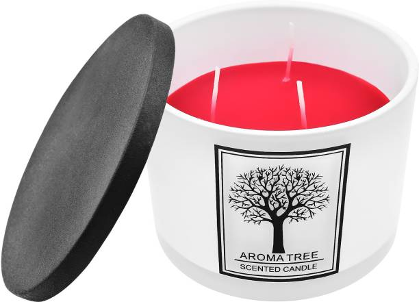 ARCHIES Scented Candle with a refreshing fruity fragrance in a ceramic jar (11x11x8 ) 1 PC Candle