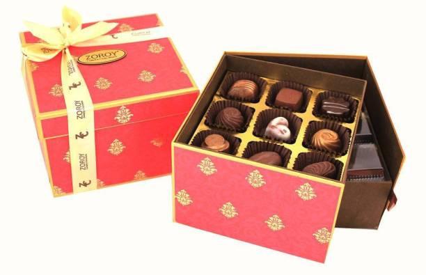 Zoroy Luxury Chocolate Diwali Double decker Box with 27 Pralines Fudges