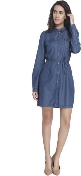 25230795cb8c Denim Dresses - Buy Denim Dresses Online at Best Prices In India ...