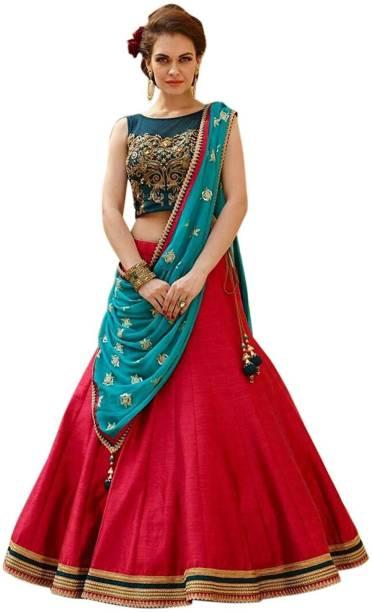 c7cafa1a79 PD CLOTH VILLA Embellished Semi Stitched Lehenga, Choli and Dupatta Set