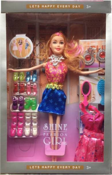 Ishan creation Barbie with accessories and dresses