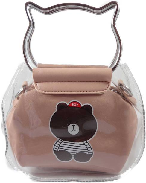 Sb Women Casual Pink Silicon Sling Bag