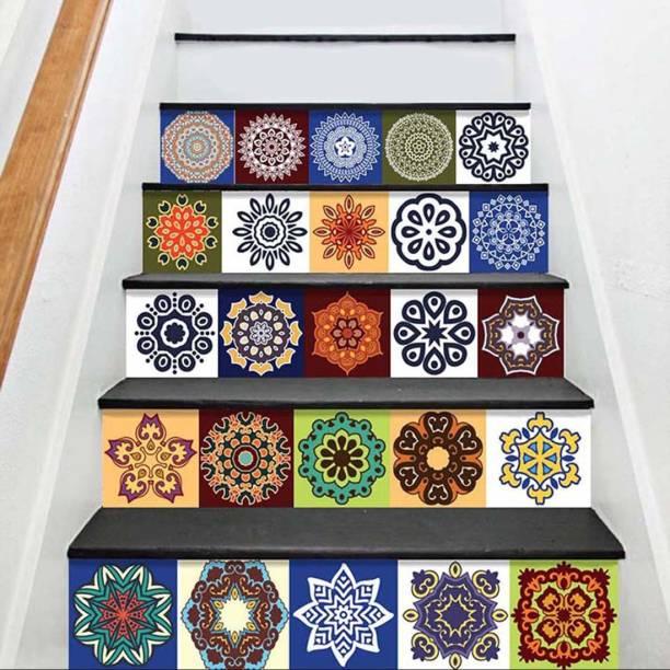 100yellow Mini Stair Sticker Mandala Pattern