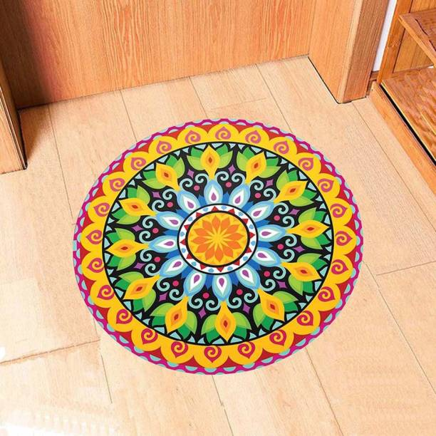 100yellow Large Diwali Floor Sticker Rangoli