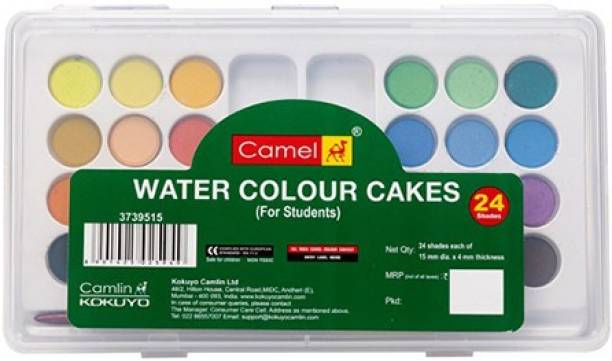 Camel Student Water Colour Cakes - 24 Shades