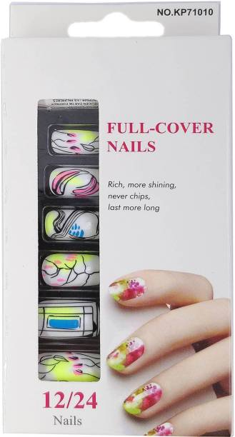 7ec28e3c3f One Personal Care Liquid Art Inspired Full Cover Nails UBB174-02  Multicolor, White,