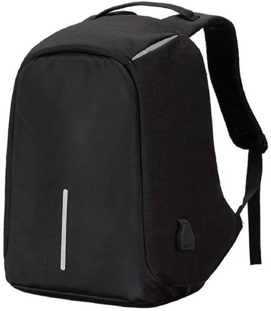 336e409596 Techtest Backpack Bag Anti Theft Water Proof with Charging Point Backpack  20 Backpack (Black)