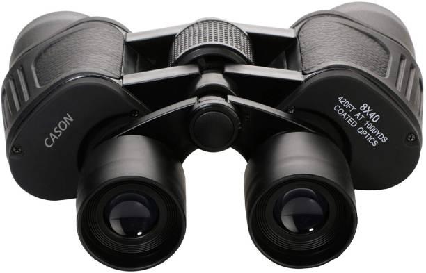CASON 8 X 40 Binoculars 10X Zoom HD Folding Powerful Lens Binocular Telescope With Bag Outdoor Binoculars For Long Distance , bird watching,wildlife (Adults ,children,kids) Binoculars