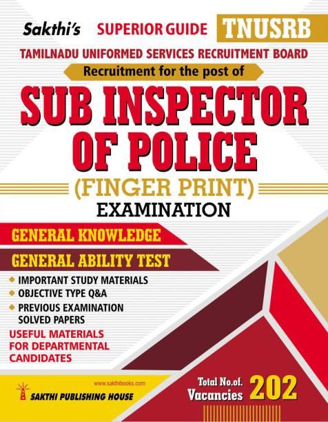 TNUSRB Sub Inspector of Police (Finger Print) Examination Book
