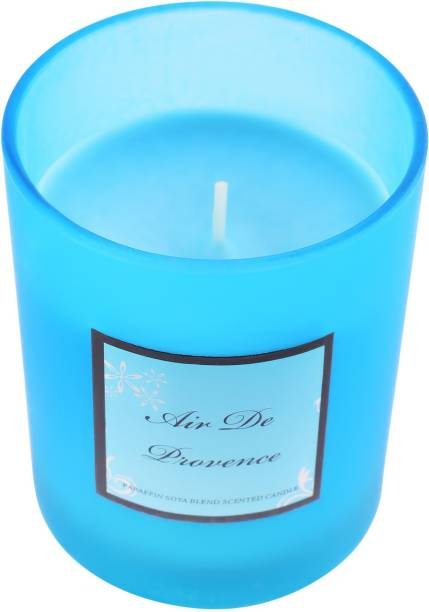 ARCHIES Scented Candle with a refreshing fragrance in a glass jar (8.5x8.5x8.5 ) 1 PC Candle
