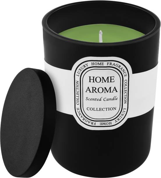 ARCHIES Aromatic Fragrance Candle for Home Decor, Room Aroma Fragrance, Black Color, Quantity 300 ml, (10.5x8.5 cms), 1 Pc Set. Candle