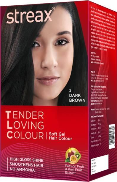 Streax Tender Loving Soft Gel Hair Colour Dark Brown , 3