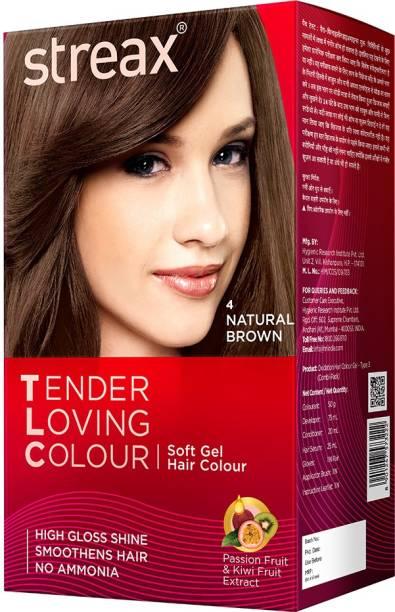 Streax Tender Loving Soft Gel Hair Colour Natural Black , 1