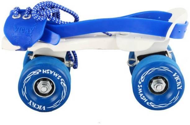 VICKY Smash Baby Blue Roller Skates Quad Roller Skates - Size 4-5 UK