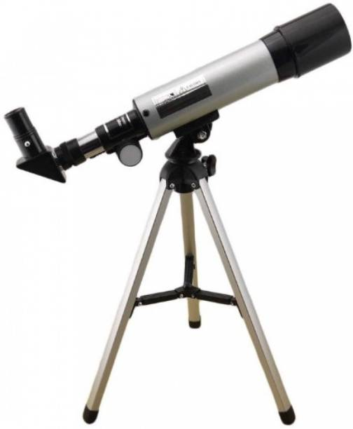 divinezon Land & Sky Telescope - Optical Glass & Metal Tube Refractor Telescope (90X Power) With Tripod & 2 Eyepieces Refracting Telescope
