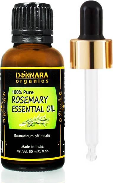 Donnara Organics 100% Pure & Natural Rosemary Essential oil(30 ml) Hair Oil