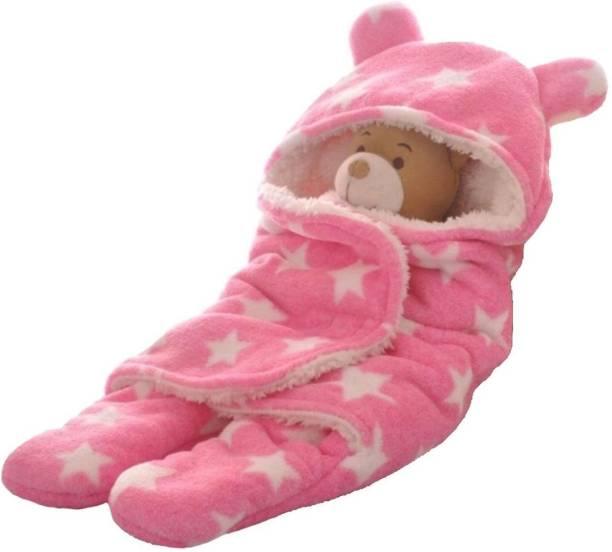 Brandonn Polka Single Hooded Baby Blanket