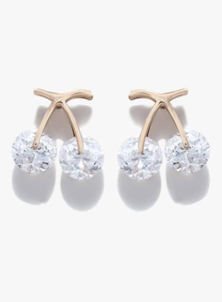 e7dff7e1727 Rose Gold Earrings - Buy Rose Gold Earrings Online at Best Prices In ...
