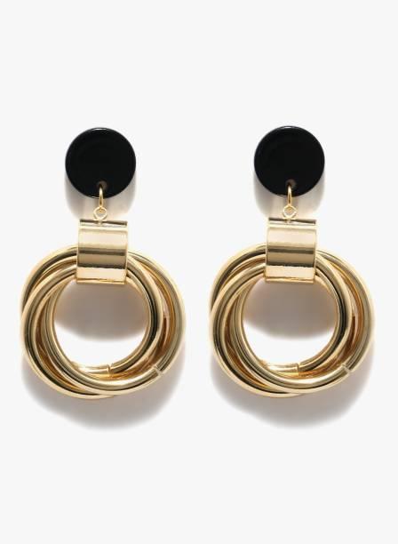 Even 2 Odd Fashion Black Braided Drop Earrings Metal Earring
