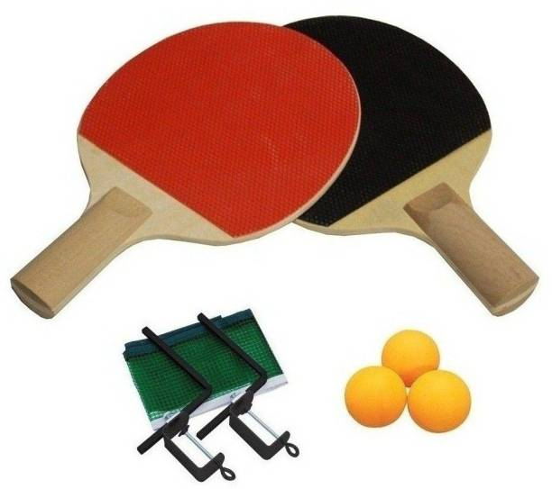SPORTSHOLIC Table Tennis Bat Set With Net, Clumps And 3 Balls For Kids 8 To 9 Years Table Tennis Kit