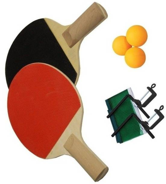 SPORTSHOLIC Table Tennis Racquet Set With Net, Clumps And 3 Balls For Kids 8 To 10 Years Table Tennis Kit
