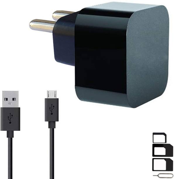 ShopMagics Wall Charger Accessory Combo for VOX Mobile Kick K3, VOX Mobile Kick K7, VOX Mobile V5600 Charger Original Adapter Like Wall Charger, Mobile Power Adapter, Fast Charger, Android Smartphone Charger, Battery Charger, High Speed Turbo Travel Charger With 1 Meter Micro USB Cable Charging Cable Data Cable
