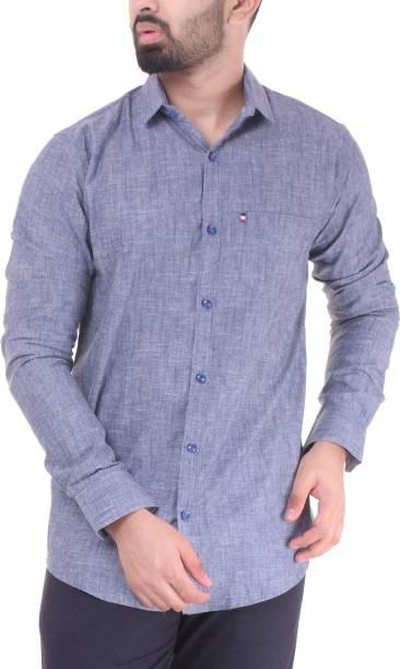 f1d9637264 VINTAGE LOOK Men Self Design Casual Grey Shirt