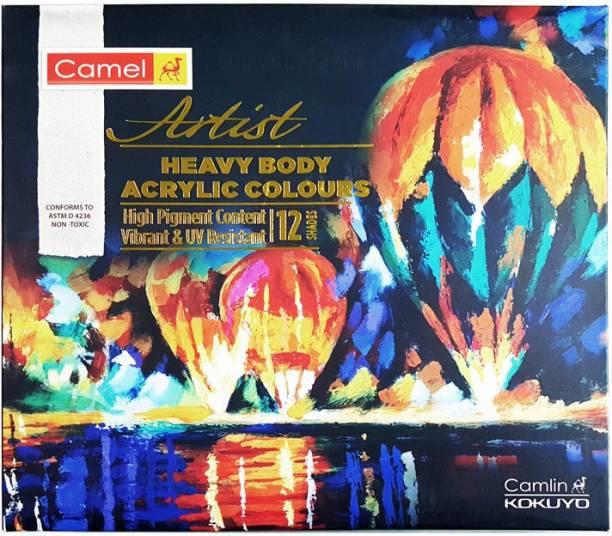 Camel Heavy Body Acrylic Colours - 12 Shades